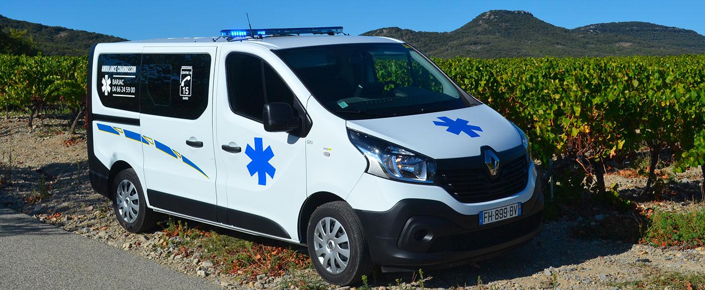 Transport en ambulance à Barjac
